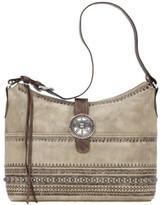 American West Women's Trading Post Large Zip-Top Shoulder Bag