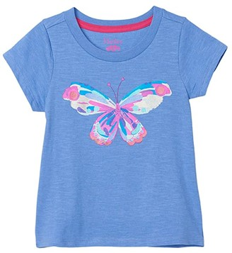 Hatley Soaring Butterfly Graphic Tee (Toddler/Little Kids/Big Kids) (Purple) Girl's Clothing