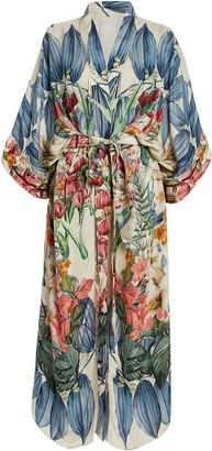 Carolina K. Lexi Floral Silk Kimono