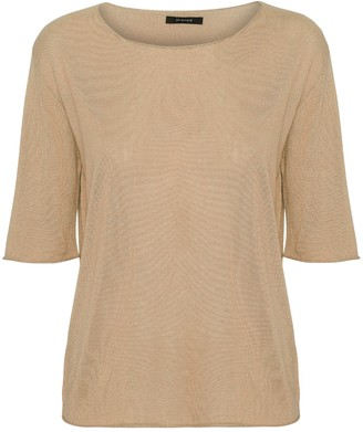 Oh Simple - Camel Silk Cashmere Knit - xs