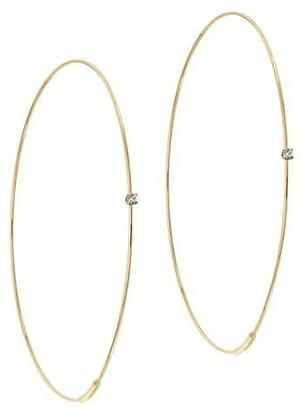 Lana 14K Yellow Gold & Diamond Large Wire Magic Hoops
