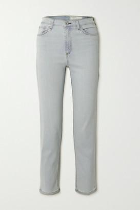 Rag & Bone Nina High-rise Straight-leg Jeans - Light denim