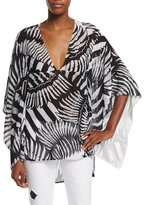 Just Cavalli Onirica Printed V-Neck Caftan Blouse