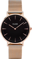 Cluse CL18113 La Bohà ̈me rose gold and stainless steel mesh watch