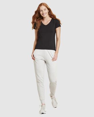 Boody Organic Bamboo Eco Wear - Women's Black Basic T-Shirts - V-Neck T-Shirt - Size One Size, XS at The Iconic