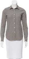Steven Alan Gingham Button-Up Top