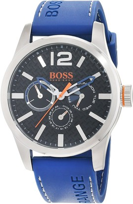 HUGO BOSS Orange Paris Men's Quartz multi dial Blue Silicone Strap 1513250