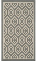 """Catharine Gray/Beige Indoor/Outdoor Area Rug George Oliver Rug Size: Rectangle 2'7"""" x 5'"""