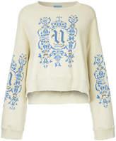 Undercover logo print distressed sweatshirt