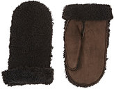 Barneys New York MEN'S SHEARLING & SUEDE MITTENS