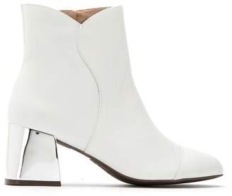 Schutz S2053900010003 WHITE Leather/Fur/Exotic Skins->Leather