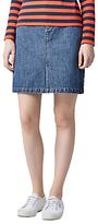 Warehouse Denim Split Front Skirt