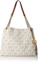 Michael Kors Jet Set Chain Item Large Shoulder Tote Handbag - Vanilla