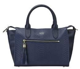 GiGi New York Personalized Grace Pebbled & Embossed Leather Satchel