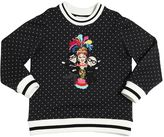 Dolce & Gabbana Polka Dots Printed Cotton Sweatshirt