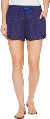 U.S. Polo Assn. Women's Eyelet Dolphin Short