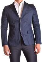 Gazzarrini Men's Blue Cotton Blazer.