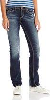 Silver Jeans Junior's Suki Mid Rise Slim Bootcut Jean 31 Inch Inseam