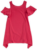 Sally Miller Girls 7-16 Girls Textured Cold-Shoulder Shift Dress