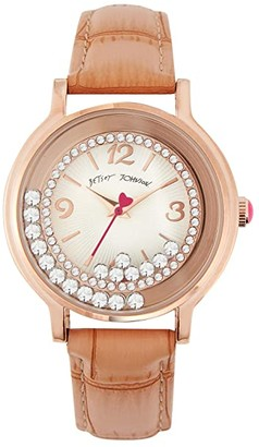 Betsey Johnson Moving Crystals Watch (Rose Gold) Watches