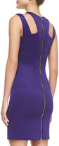 Milly Cutout-Shoulder Stretch Fitted Dress