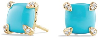 David Yurman Chatelaine 18K Yellow Gold & Gemstone Stud Earrings