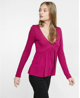 Express long sleeve v-neck flared tee