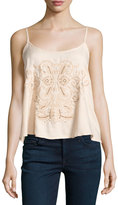 Romeo & Juliet Couture Beaded Embroidered Tank, Blush