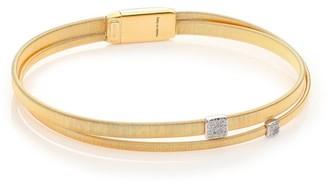 Marco Bicego Masai Diamond, 18K Yellow Gold & 18K White Gold Two-Row Bracelet