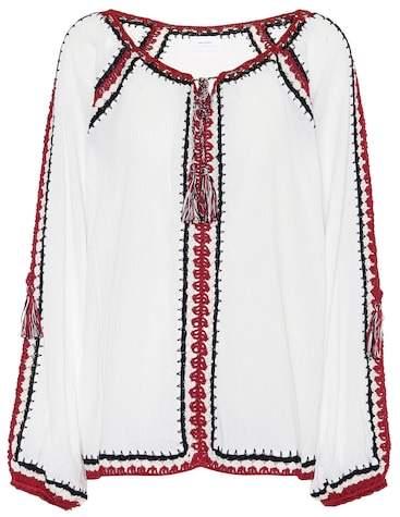 Anna Kosturova Medina crochet cotton top