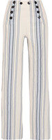 Lemlem Halima Striped Cotton And Linen-blend Wide-leg Pants - Sky blue