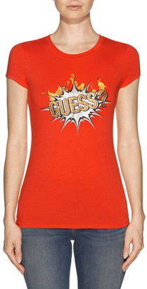 GUESS Short Sleeve Boom Logo Tee