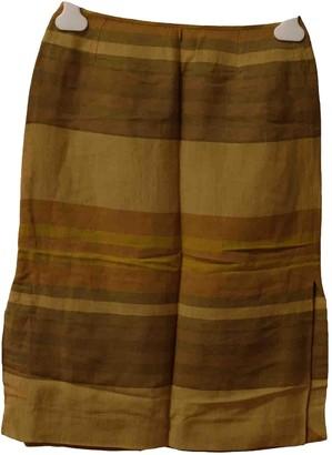 Celine Ecru Cotton Skirt for Women Vintage