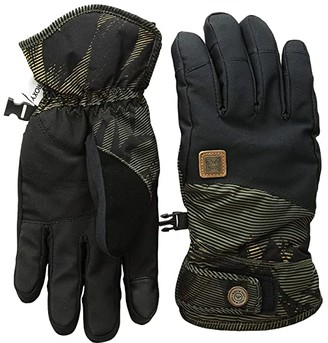 Roxy Vermont Gloves (Four Leaf Clover/Swell Flowers) Extreme Cold Weather Gloves