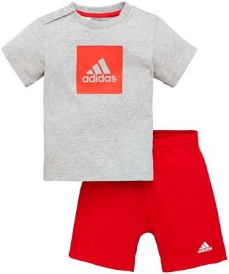 adidas Infants Logo Sum Tracksuit - Grey