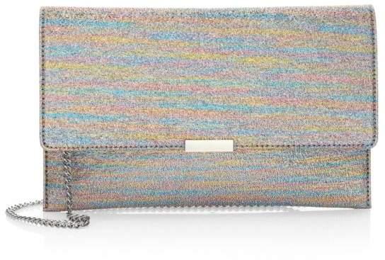 Loeffler Randall Rainbow Lame Envelope Clutch