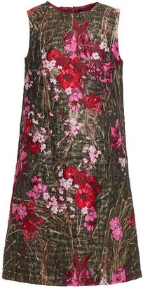 Dolce & Gabbana Metallic Floral-brocade Mini Dress