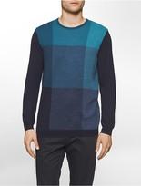 Calvin Klein Merino Wool Birds-Eye Plaid Sweater