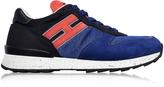 Hogan Running R261 Blue Nylon and Nubuck Men's Sneakers