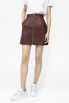French Connection Atlantic Faux Leather Mini Skirt