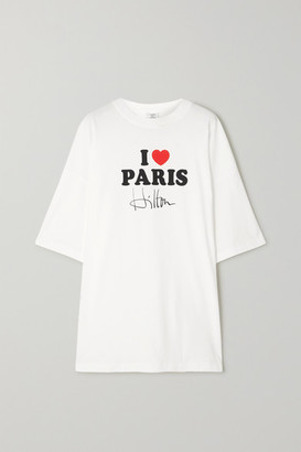 Vetements Oversized Printed Cotton-jersey T-shirt - White