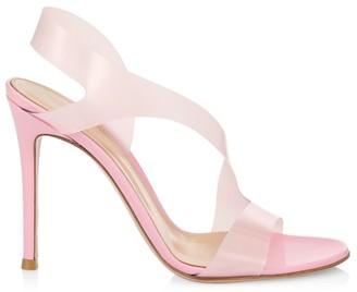 Gianvito Rossi Metropolis PVC Slingback Sandals