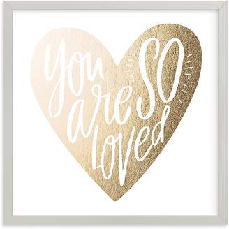 Pottery Barn Kids So Loved Heart Wall Art by Minted® 8x8, White
