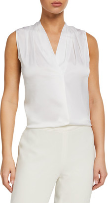 Kobi Halperin Mila Silk-Stretch Sleeveless Top