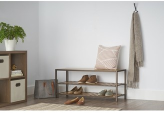Trinity 3-Tier Bamboo Shoe Bench - Bronze Anthracite