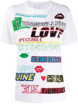 Escada Sport graphic-print embroidered T-shirt