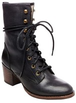 SoHo Cobbler Women's Soho Cobbler Cameliah Leather Trooper Boots