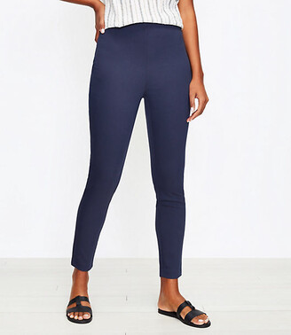 LOFT Curvy Side Zip High Waist Skinny Pants