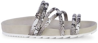 J/Slides Tess Embossed-Snakeskin Leather Slides