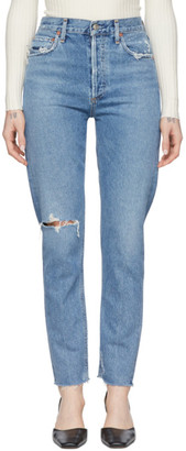 A Gold E Agolde AGOLDE Blue Jamie Classic Jeans